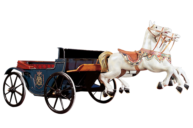 Horse with carriage - Calèche de chevaux