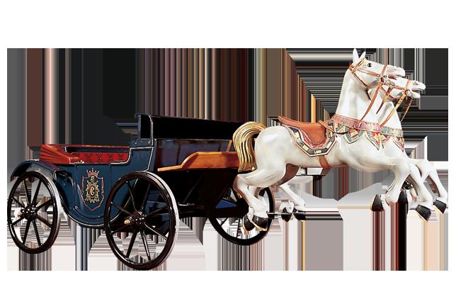 Horse with carriage - Calèche de chevaux