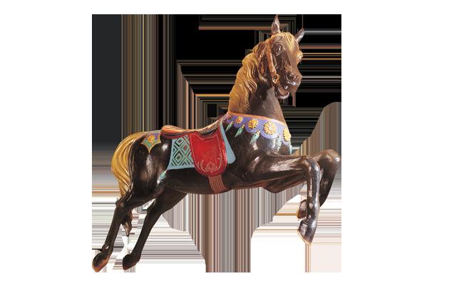 Horse N°4 - Cheval 4 noir