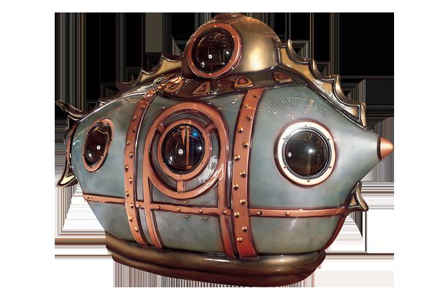 Jules Vernes Nautilus submarine - sous marin